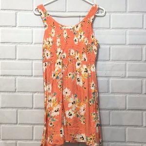 O'Neil Peach floral dress empire waist M